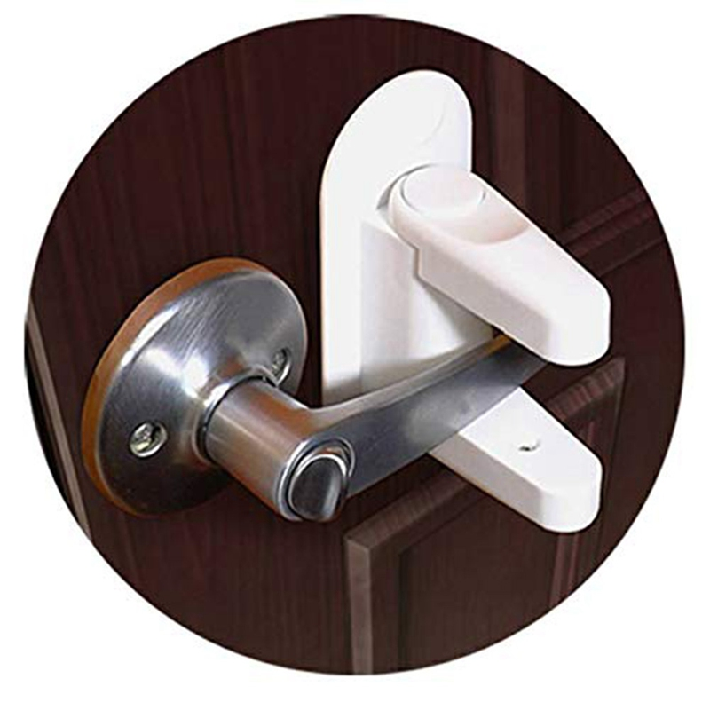 2Pcs/Set Newborn Kids Children Protection Doors Handle Baby Safety Lock Door Lever Home Universal Adhesive Cabinet Locks