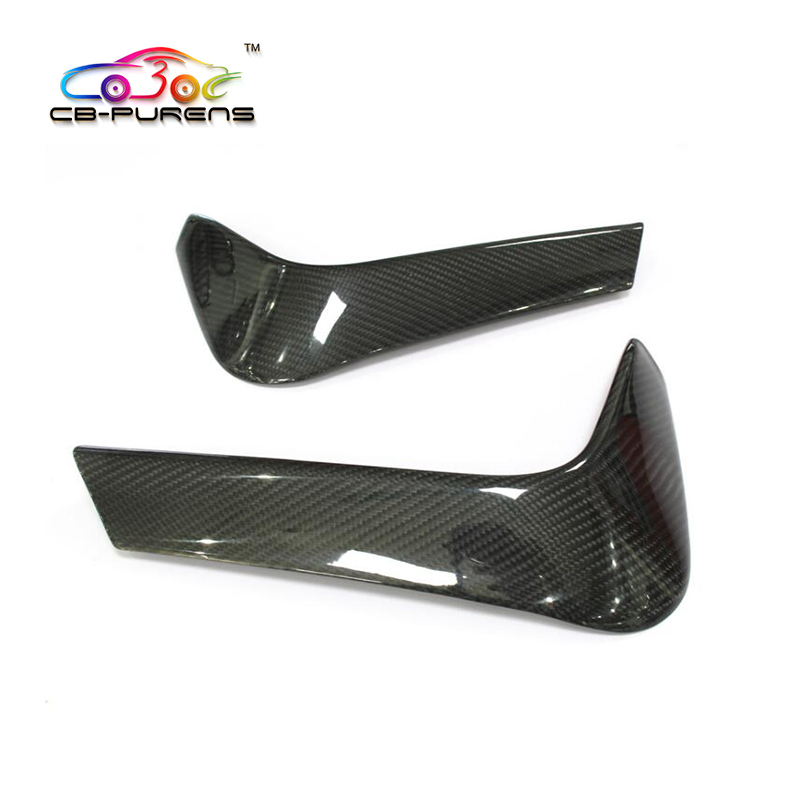 For BMW M3 F80 M4 F82 F83 2014-on Add on Type Auto Styling Gloss Black Dry Carbon Fiber Rear Bumper Lip Splitter- 2pcs image
