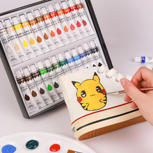 Acrylic-Paints-Set Clothing Painting Fabrics 1-Palette Pigments-Include 3-Brushes 1-Canvas