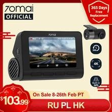 В наличии 70mai Dash Cam 4K A800S Встроенный GPS ADAS 70mai Real 4K Автомобильный видеорегистратор UHD Cinema-качество изображения 24 часа парковки SONY IMX415 140FOV