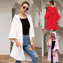 2019 Autumn Fashion Women Long Sleeve Loose Knitting Long Cardigan Sweater Knitted Female  Hooded Cardigan kardigan Pull Femme цена