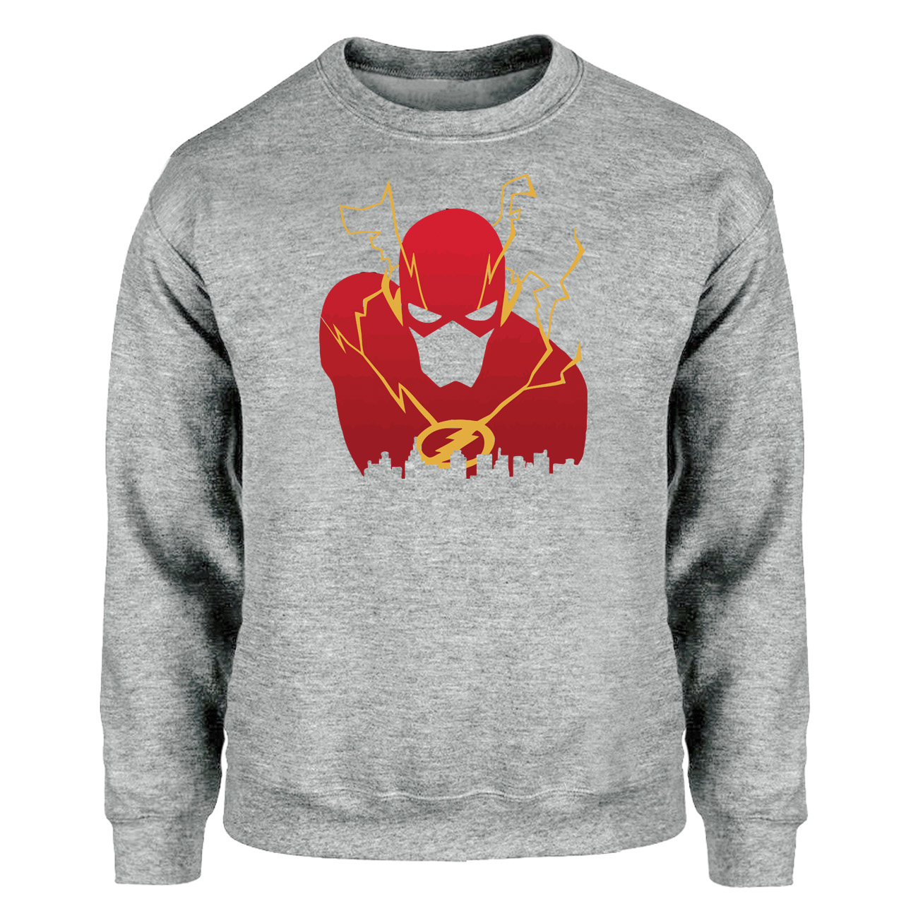 The Flash Barry Allen Hoodies Men Sweatshirts Superhero I Protect This City Crewneck Sweatshirt Hoodie Winter Autumn Sportswear