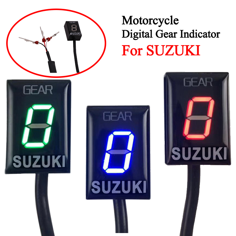 Motorcycle 1-6 EFI Speed Gear indicator Aluminum ECU Gear For <font><b>SUZUKI</b></font> GSX-R750 GSX-R1000 <font><b>GSX1400</b></font> M800 DL650 GSF650 VZ1500 RM-Z250 image