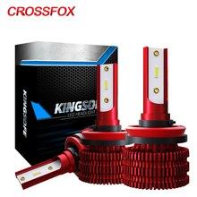 CROSSFOX 2x otomatik H11 Led sis farları H8 H9 H7 H1 9005 HB3 9006 HB4 H4 LED araba ışıkları 12V 6000K 8000LM kafa lambası ampulleri aksesuarları