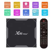 X96 MAX PLUS TV Box Android 9.0 MAX 4GB 64GB Amlogic S905X3 Smart TV Box 4K TV android Box 2.4G e 5G Wifi BT4.0 H.265 X96 MAX +