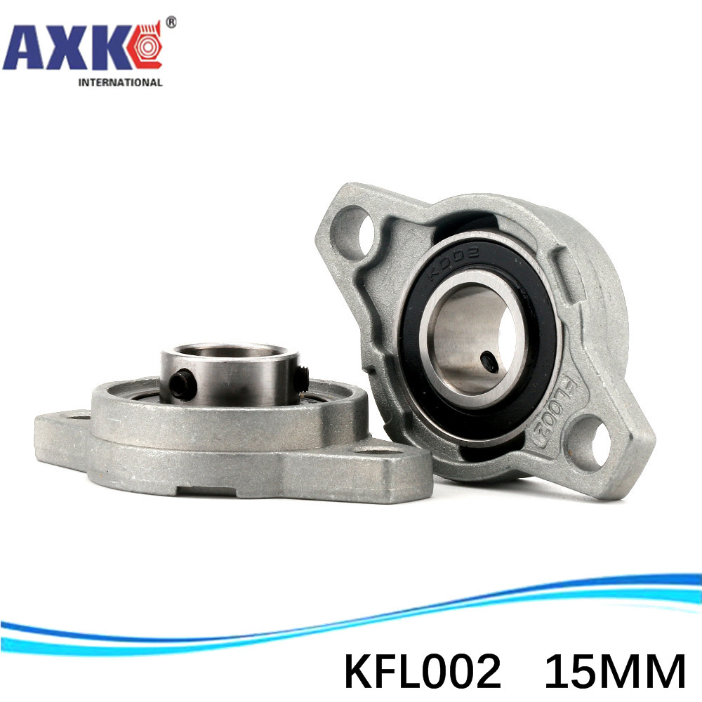 15 mm caliber zinc-aluminum alloy bearing <font><b>KFL002</b></font> flange bearing with pillow block wholesale free shipping image