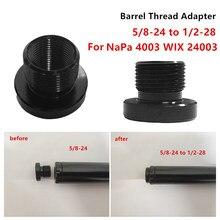Filtry paliwa samochodów filtry samochodu pojedynczy rdzeń filtr paliwa samochodowego przejściówka gwintowana konwertować 5/8-24 do 1/2-28 dla 4003 WIX 24003