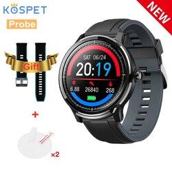 KOSPET sonda inteligentny zegarek sportowy SN80 IP68 wodoodporna 1.3 cal ekran pulsometr Smartwatch Bluetooth mężczyźni podwójny pasek