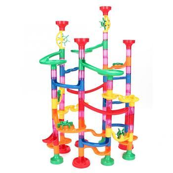 105 109Pcs DIY Building Pipe bloki utwór dla dzieci marmur Race Run Track Building Blocks dzieci Maze Ball Roll zabawki Christmas Gift tanie i dobre opinie Pipe Blocks Transport none Z tworzywa sztucznego 2-4 lat 5-7 lat