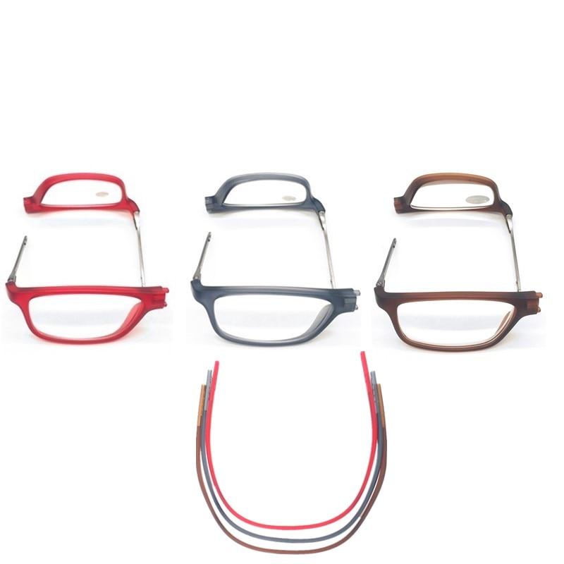 PANDER regolabile appeso collo presbiopia occhiali uomo permanente magnetico portatile occhiali da lettura donne Full Frame Square Gafas 2