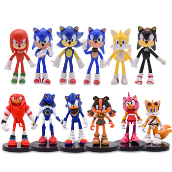 Hot Toy Sonic Action Figures Boom Rare Dr Eggman Shadow Toy PVC Figur Toy Sonic Shadow Tails Characters Figure Toys For Children 6pcs set hot sale sonic figures toy pvc sonic shadow tails characters figure sonic shadow tails characters figure toys