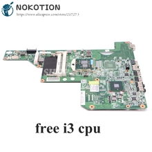 NOKOTION 615849 001 605903 001 Laptop Motherboard For HP G62 G72 CQ62 HM55 UMA DDR3 MAIN BOARD free i3 cpu