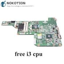 NOKOTION 615849 001 605903 001 Scheda Madre Del Computer Portatile Per HP G62 G72 CQ62 HM55 UMA DDR3 SCHEDA PRINCIPALE di trasporto i3 cpu