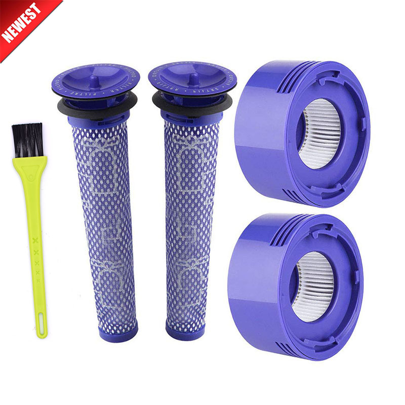 2 Pack Pre-Filters And 2 Pack HEPA Post-Filters Replacements Compatible Dyson V8 And V7 Cordless Vacuum Cleaners