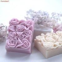 Hochzeit Geburtstag Kuchen Dekore Rechteckige Rose Handgemachte Seife Silikon Form Fondant Kuchen Silikon Form Schokolade Mold Party Dekore