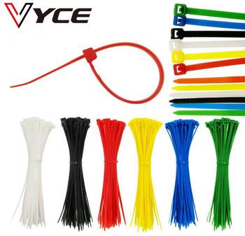 VYCE 100 sztuk kolorowe 3*150mm szerokość 2 5mm Standard fabryczny samoblokujący plastikowe opaski kablowe z nylonu drut Zip Tie tanie i dobre opinie Plastic Self-Locking