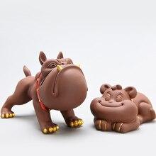 TANGPIN фиолетовые глиняные чайники собака чай играть ручной работы китайский чайный набор кунг-фу украшения