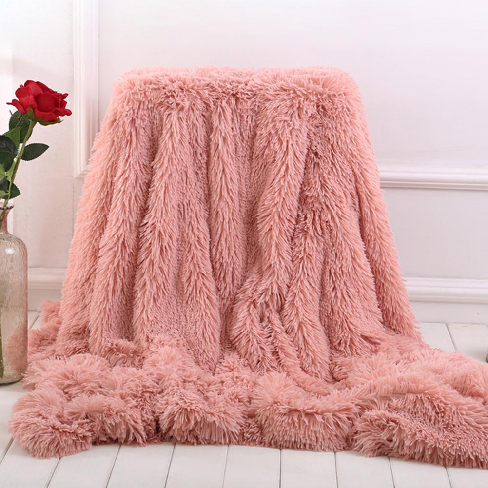 80x120cm Soft Fluffy Shaggy Warm Bed Sofa Bedspread Bedding Sheet Throw Blanket-0