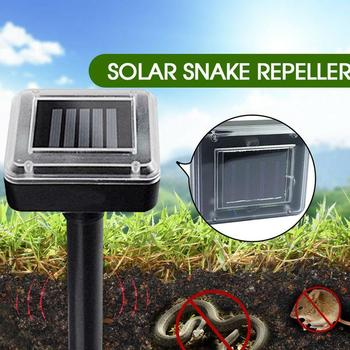 Solar Power Repeller Ultrasonic Mouse Repeller Black 400-1000(HZ) Animal Rodent Control Gopher ABS 1.2V 600MAH Eco Friendly image