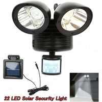 Lámpara de seguridad Solar LED con Detector PIR, foco Solar con Sensor de movimiento, reflector para patio de jardín, iluminación exterior, 22 Uds.