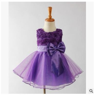 LOOZYKIT; красивое платье принцессы для девочек; Вечерние Платья с цветочным узором для девочек; детское платье для причастия; платье-пачка; детская одежда - Цвет: purple