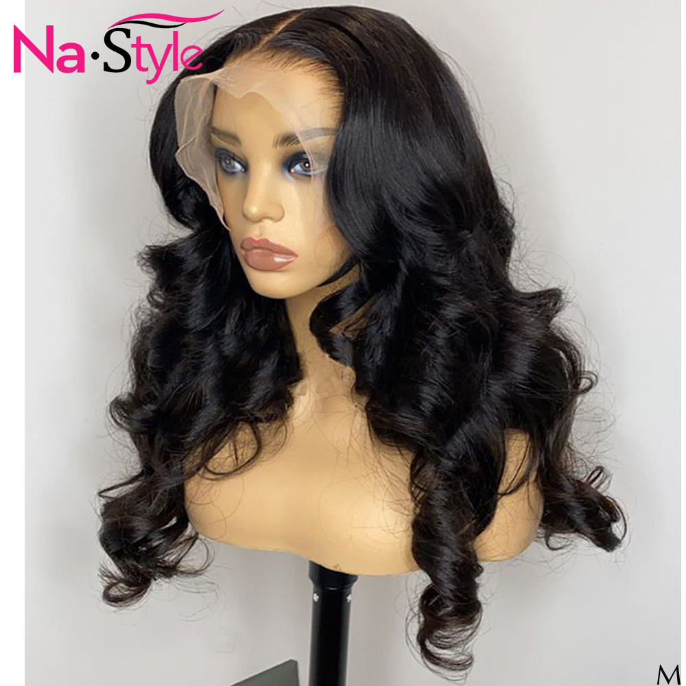 Transparent Fake Scalp Wig For Black Women Body Wave Wig Pre Plucked Bleached Knots 13x6 Lace Front Human Hair Wigs 150 250 Remy