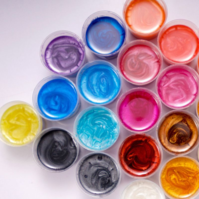 4 Pcs/set Mixed Color Resin Jewelry DIY Making  Glowing Powder Luminous Pigment Set Crystal Epoxy Material