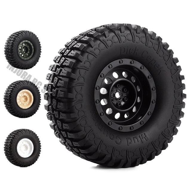Ensemble pneus et jantes en caoutchouc de 1.9 pouces, pour roue en plastique 1:10 RC, chenille axiale, SCX10 90046 AXI03007 Tamiya CC01 D90