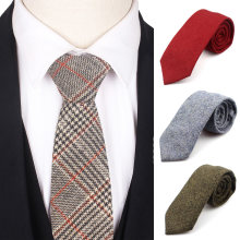 Шерстяной галстук классический шерстяной с воротником деловые