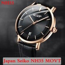 Aesop 2020 Automatic Watch Men Japan NH35 Movement Luminous