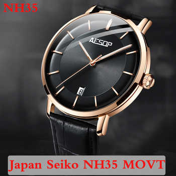 Reloj Automático Aesop 2020 para hombre, Japón, movimiento NH35, relojes mecánicos luminosos, reloj de alta marca, reloj Masculino de lujo