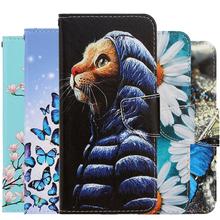 Moda kwiat skórzane etui z klapką dla iPhone 11 Pro Max Xr X Xs Max 8 7 6 6S Plus 8Plus portfel etui motyl kot posiadacz karty tanie tanio AKTIMO Portfel Przypadku Flower Butterfly Leather Wallet Case Apple iphone ów Iphone 6 Iphone 6 plus IPHONE 6S Iphone 6 s plus
