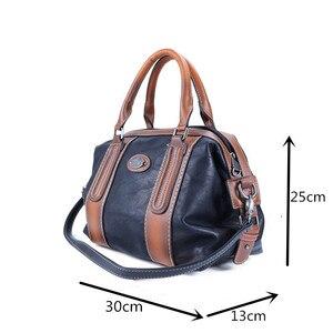 Image 5 - Imyok新トップハンドルバッグ女性のレトロな本革デザイナーハンドバッグクロスボディショルダーバッグ大容量財布 2020