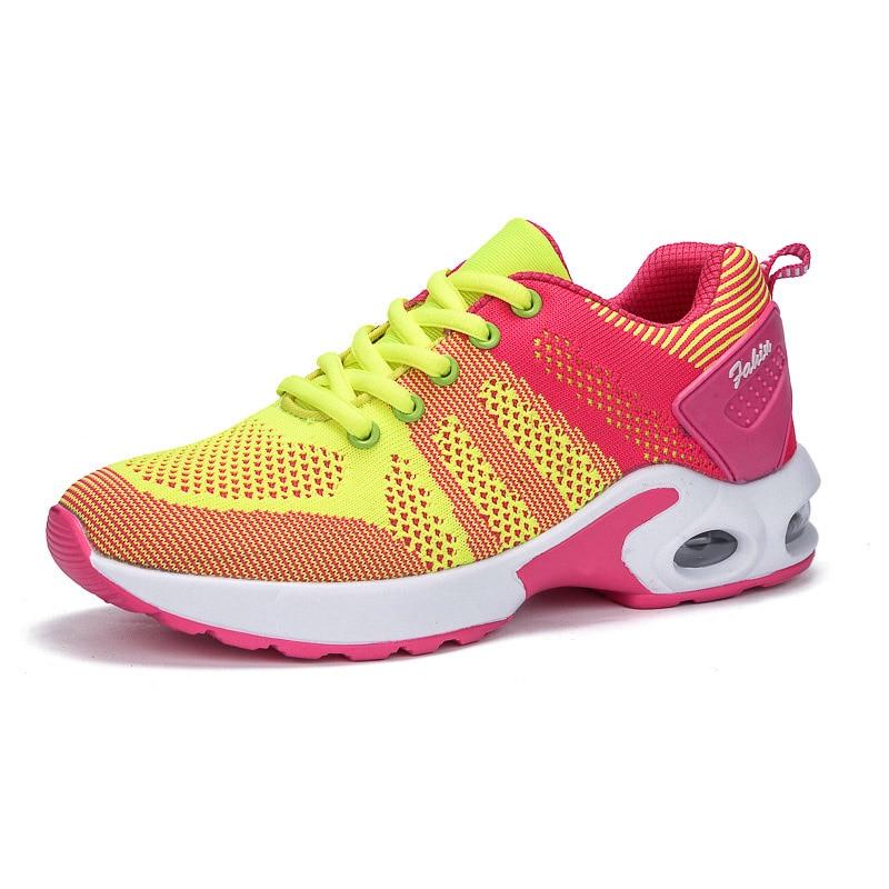 KAMUCC/Новинка; женские кроссовки на платформе; дышащая женская повседневная обувь; модная женская обувь, увеличивающая рост; большие размеры 35-42 - Цвет: Цвет: желтый