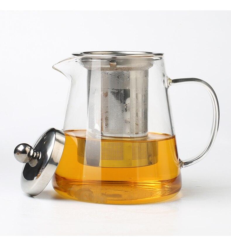 agregado familiar bule com conjunto de chá