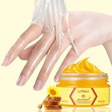 Honey Milk Hand Mask Care Nourish Moisturizing Whitening Skin Exfoliating Calluses Film Scrub 110g