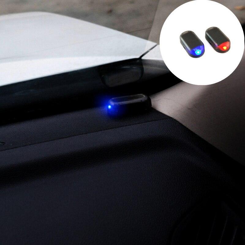 New 1PCS Universal Solar Car Alarm LED Light For Peugeot RCZ 206 207 208 301 307 308 406 407 408 508 2008 3008 4008 5008 6008