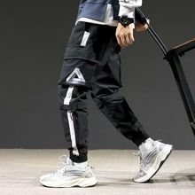 2019 Japan Hip Hop Boy Multi-pocket Elastic Waist Design Harem Pant Men Streetwe