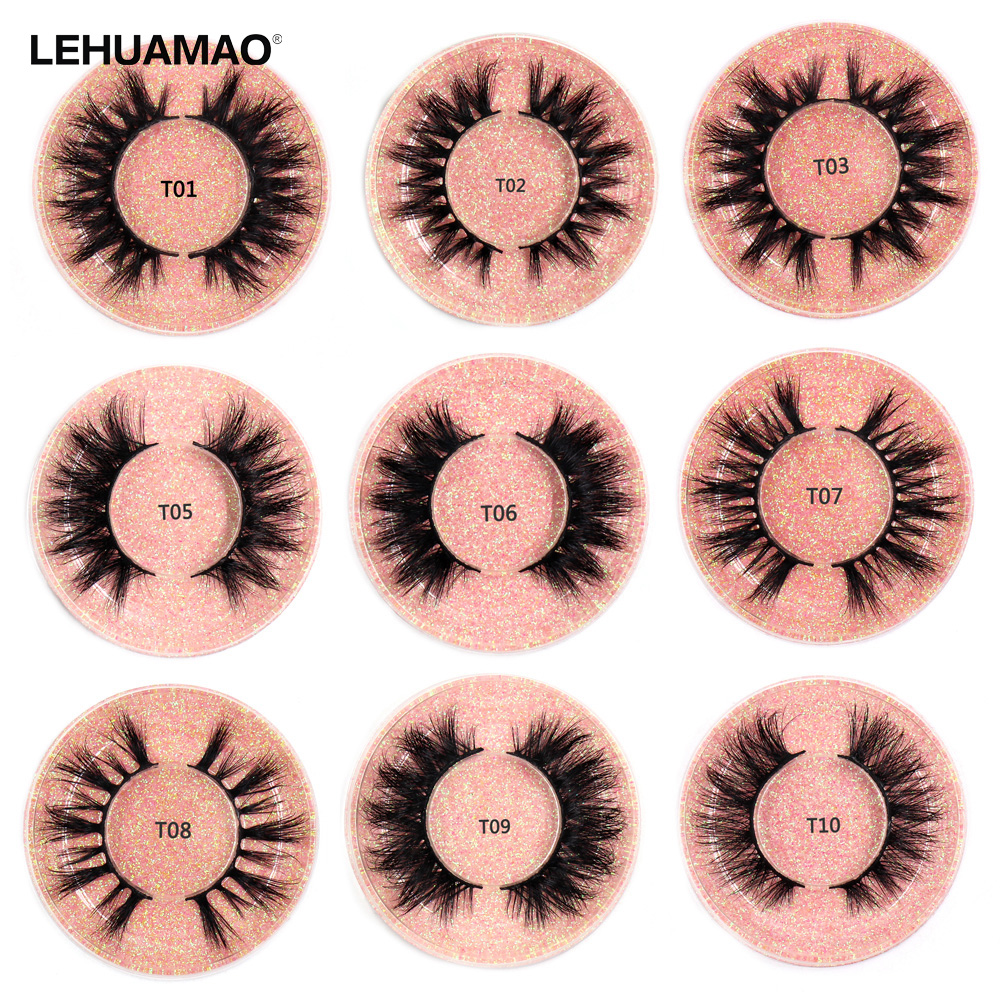 LEHUAMAO Eyelashes Mink Lashes Cruelty Free Luxury Handmade 3D Mink Eyelash Extension Makeup Natural Long EyeLashes Fluffy Lash