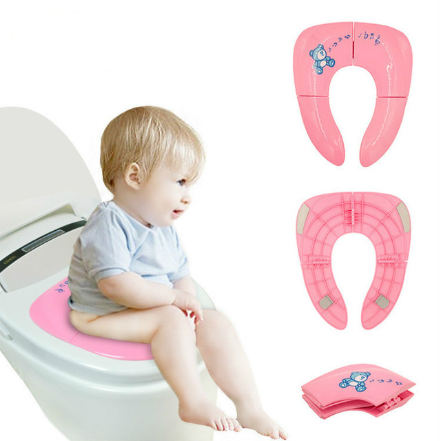 Newest Child WC Chair Toilet Seat Cover Folding Potty Seats Pad Training Children Safety Products for Baby Toddler Kids Bathroom   Happy Baby Mama