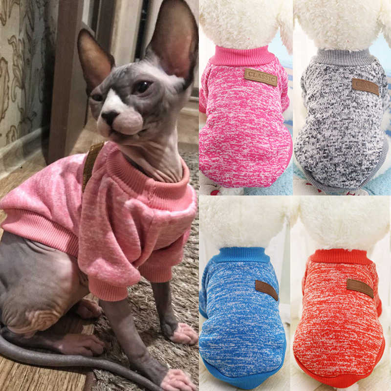 Classic Fashion  Pet Costume Winter Warm Cat Clothes Pet Sweater Clothing for Small Cats Outfit Coat Soft Kitten Costumes Pets