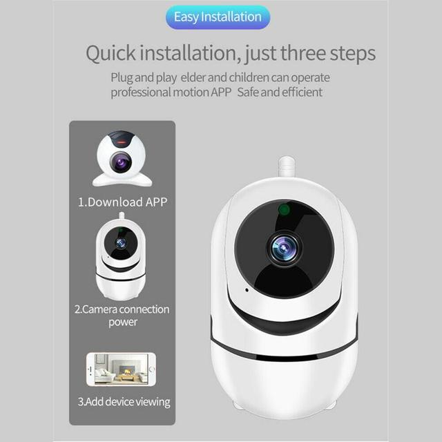 720P WiFi IP Camera Home Security Baby Monitor Clever Dog CCTV Night Vision Motion Detection And Alarm Security Indoor Camera 6