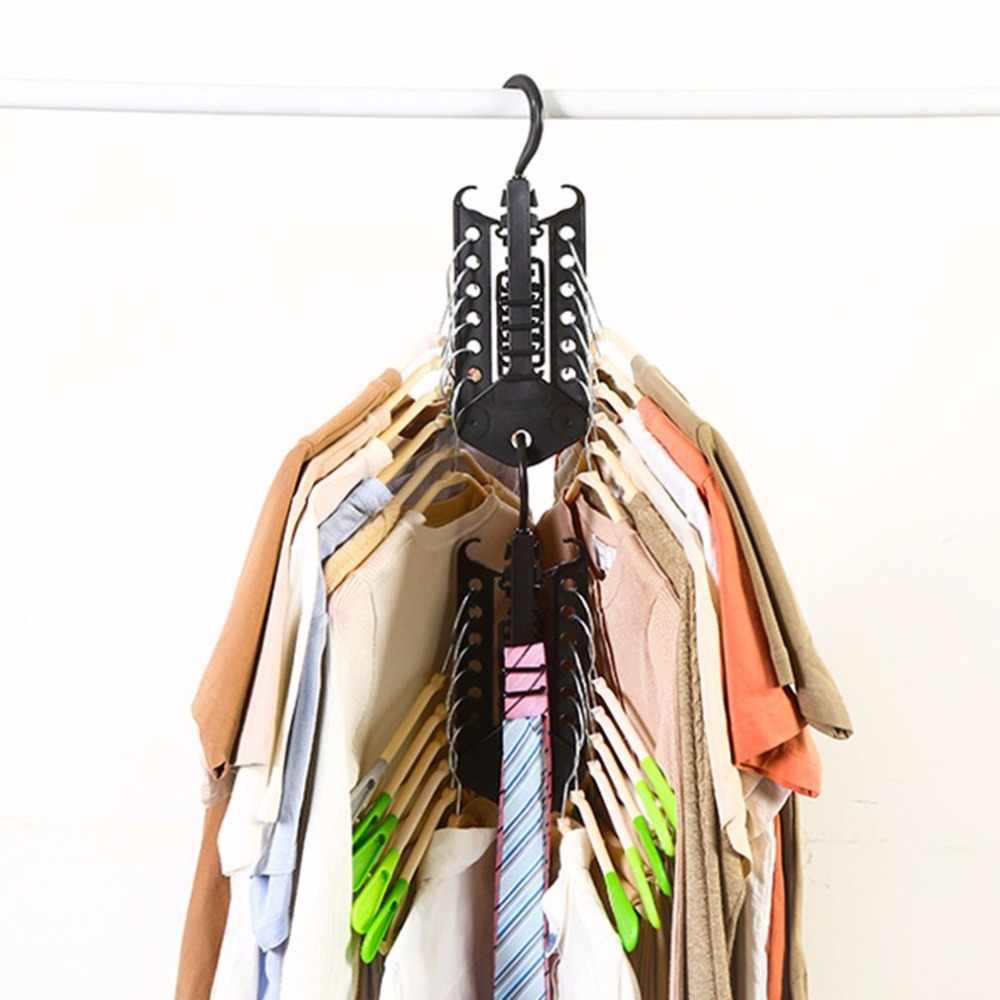 Percha perchero para ropa, perchero plegable, percha mágica multifuncional para ropa, organizador de armario, estilo minimalista