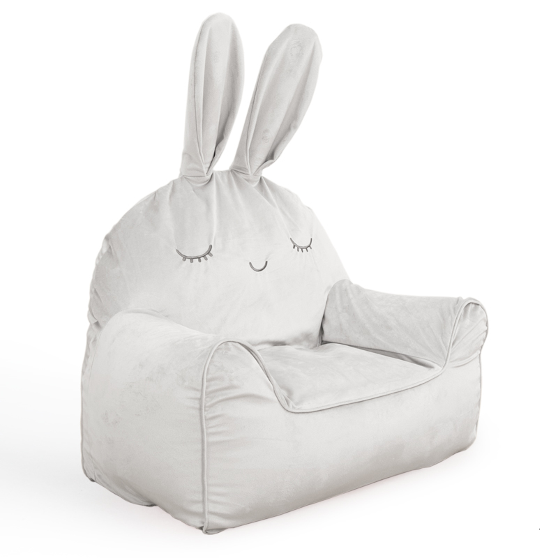Children Lazy People Sofa Lovely Little Rabbit Read Chair Mini Baby Lovely Small Tatami Kids Bedroom Bean Bag Zitzak White