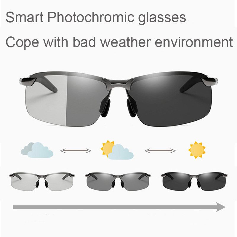 Smart color changing polarized sunglasses day and night dual-use riding glasses Outdoors Sports Cycling Bicycle eyewear Goggles
