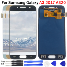 For SAMSUNG Galaxy A3 2017 Display A320 SM-A320F A320M/DS A320Y A320M A320FD A320FL LCD Touch Screen Panel Digitizer