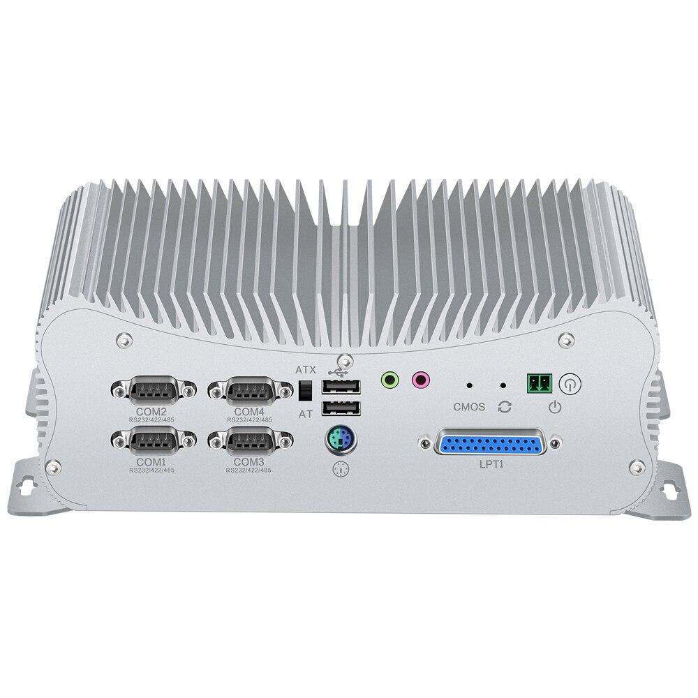 2 DDR4 Mini PC çekirdek i7 10510U 8550U i5 8265U LPT HDMI GPIO 6 * COM 4 * RS485 Windows 10 toz geçirmez fansız Mini endüstriyel bilgisayar