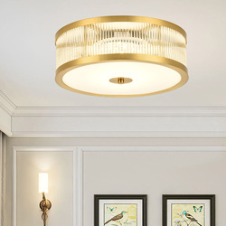 Nowy chiński styl LED koło sypialni lampa sufitowa szkła abażur proste w stylu amerykańskim salon restauracja balkon sufitowe L w Oświetlenie profesjonalne od Lampy i oświetlenie na
