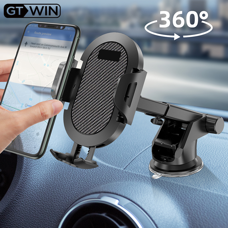 GTWIN Car Phone Holder Windshield Gravity Sucker Mobile Phone Support For IPhone Samsung Huawei Smartphone Universal Mount Stand