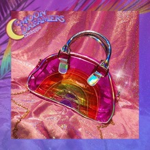Transparent beach bag for women waterproof TPU transparent laser summer handbags large holographic TB10